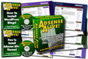 Thumbnail Adsense Alive - Power Blogging Your Way to An ONLINE INCOME Using Google Adense + 2 Bonus Videos - With Resell Right and Sales Page
