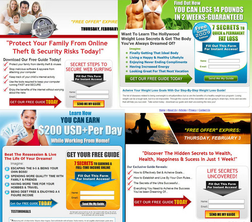 Product picture 10 Complete Squeeze Pages - Email Letters and Everything You Need To Start  a Campaign - 10 Different Niches