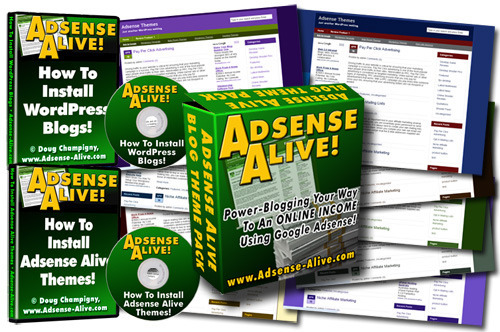 Product picture Adsense Alive - Power Blogging Your Way to An ONLINE INCOME Using Google Adense + 2 Bonus Videos - With Resell Right and Sales Page