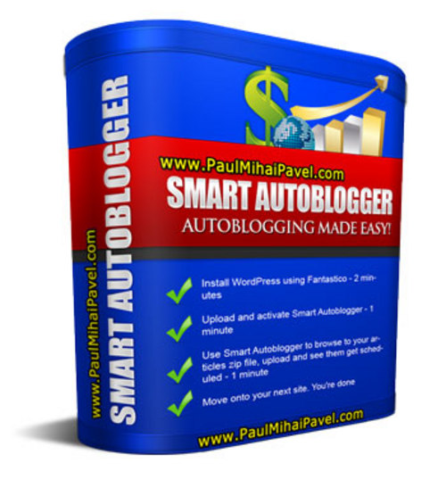 Product picture Smart Autoblogger + Bonuses Wordpress Paypal Button Generator and 100 PLR Articles in 10 Niches - Build a Targetted Niche Blog in a Couple of Hours and Sit Back While It GROWS Over Time... + MRR