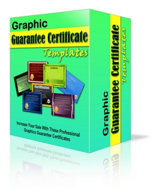 Product picture Guarantee Certificate Graphic Templates - Earn Trust In Your Visitors